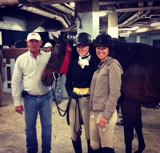 Stella Styslinger and Eloise with trainers Jack Towell and Liza Boyd