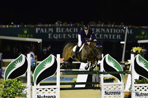 Hardin Towell and Silence on the way to second place in the $50,000 Holiday & Horses Grand Prix