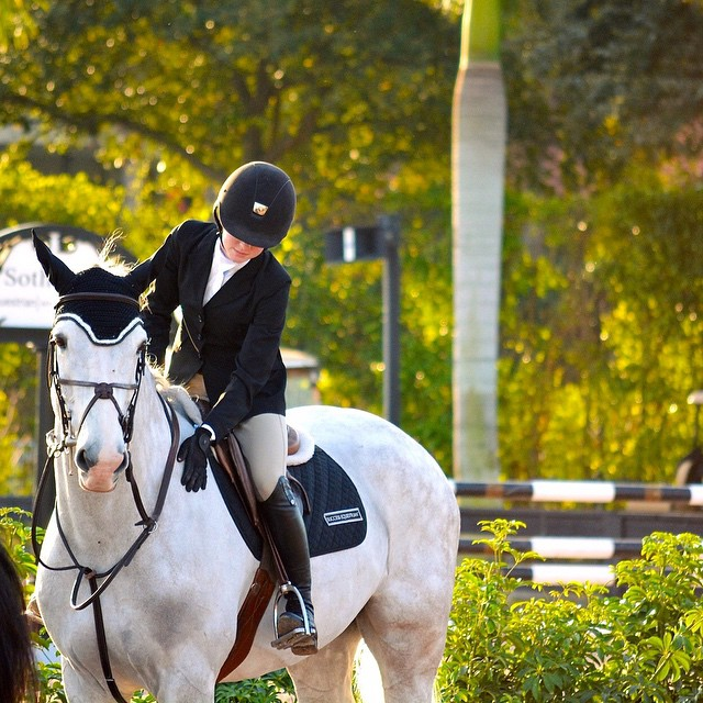 Grace Howard and HiHo Houdini placed eighth in the Children's Jumper Classic during WEF 3.