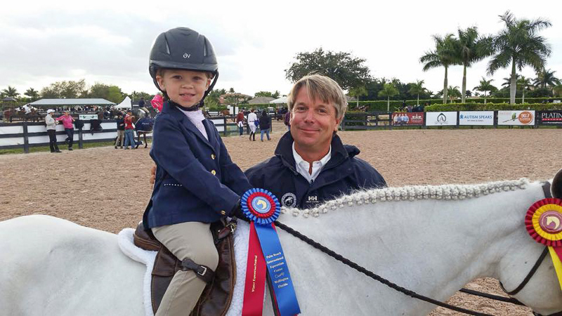 Elle Boyd and trainer Charlie Moorcroft