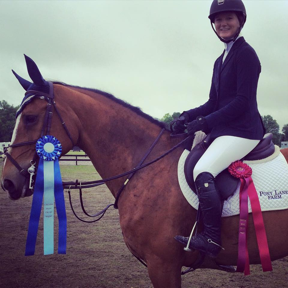 Maddy Thatcher and Dolce Vita with her classic ribbons