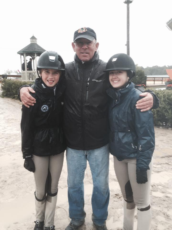 Trainer Jack Towell, Ruby Sloan and Elly Ficca