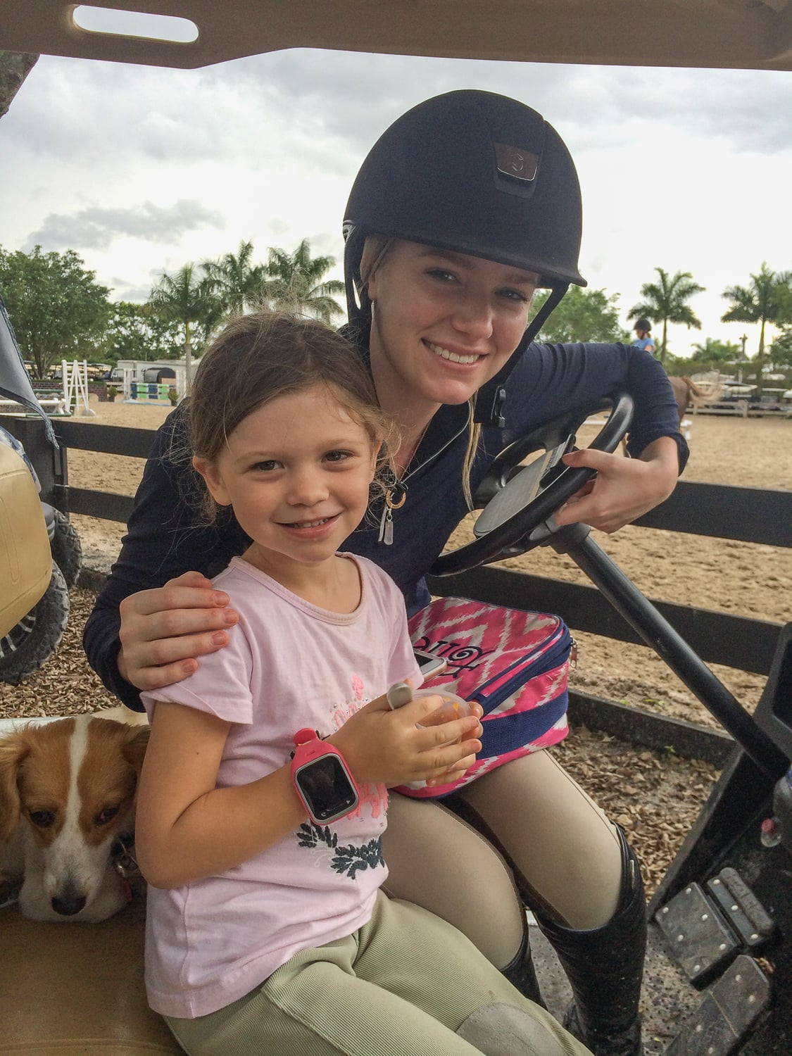 Elle Boyd and Stella Styslinger relaxing in Florida