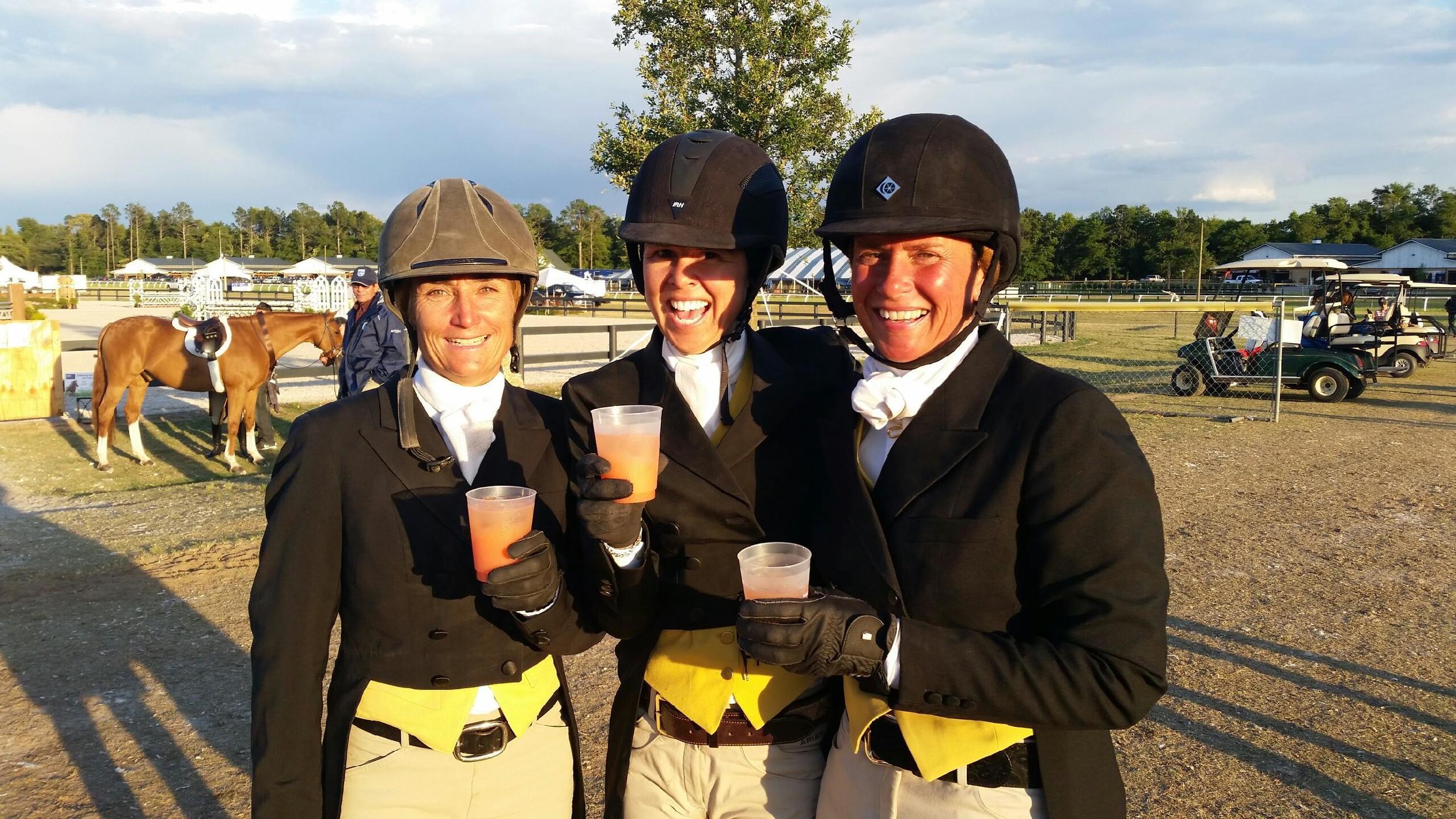 Havens Schatt, Liza Boyd and Jennifer Alfano enjoy the Aiken hospitality.