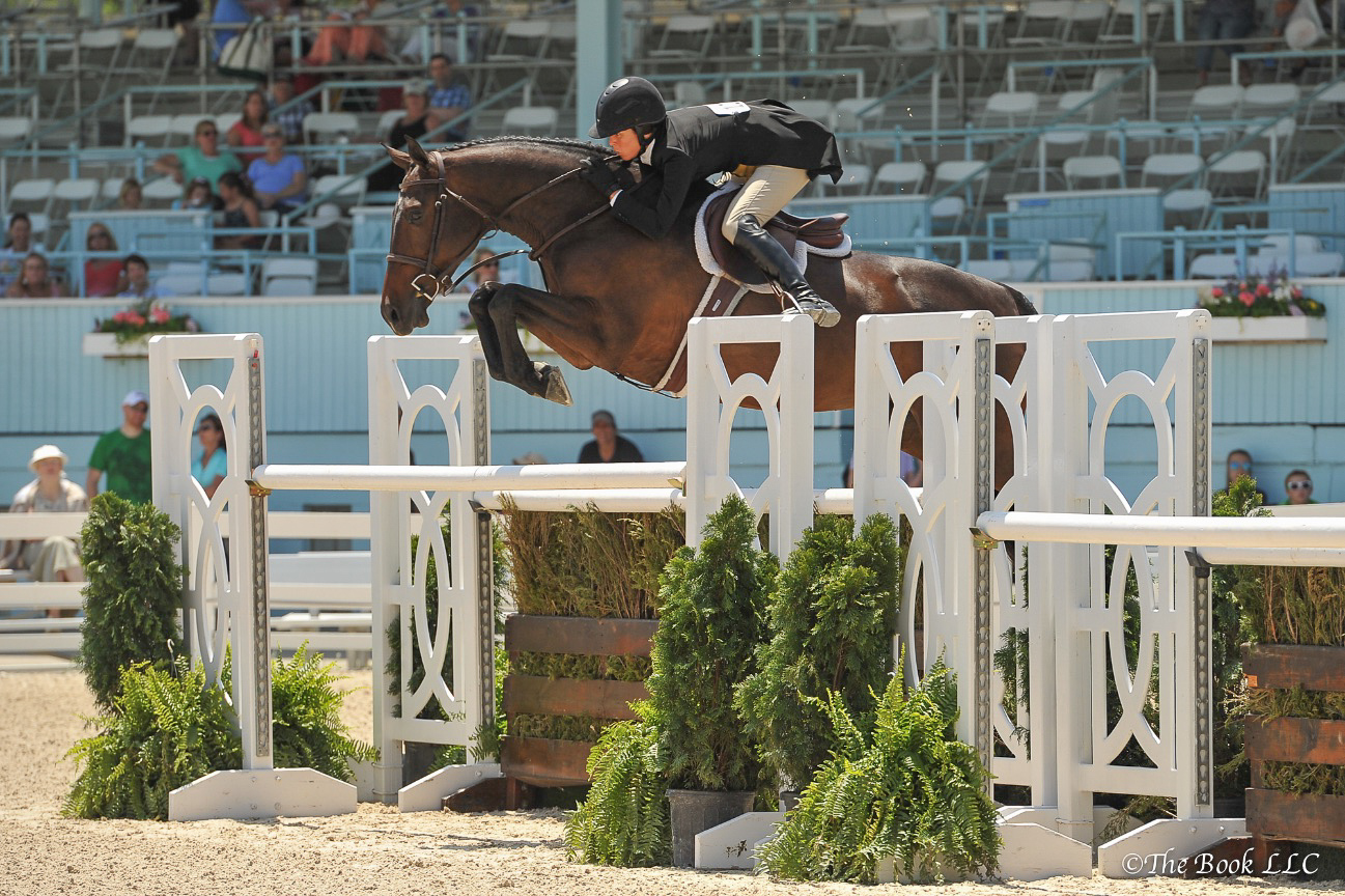Like I Said and Liza Boyd clearing a High Option fence with room to spare!