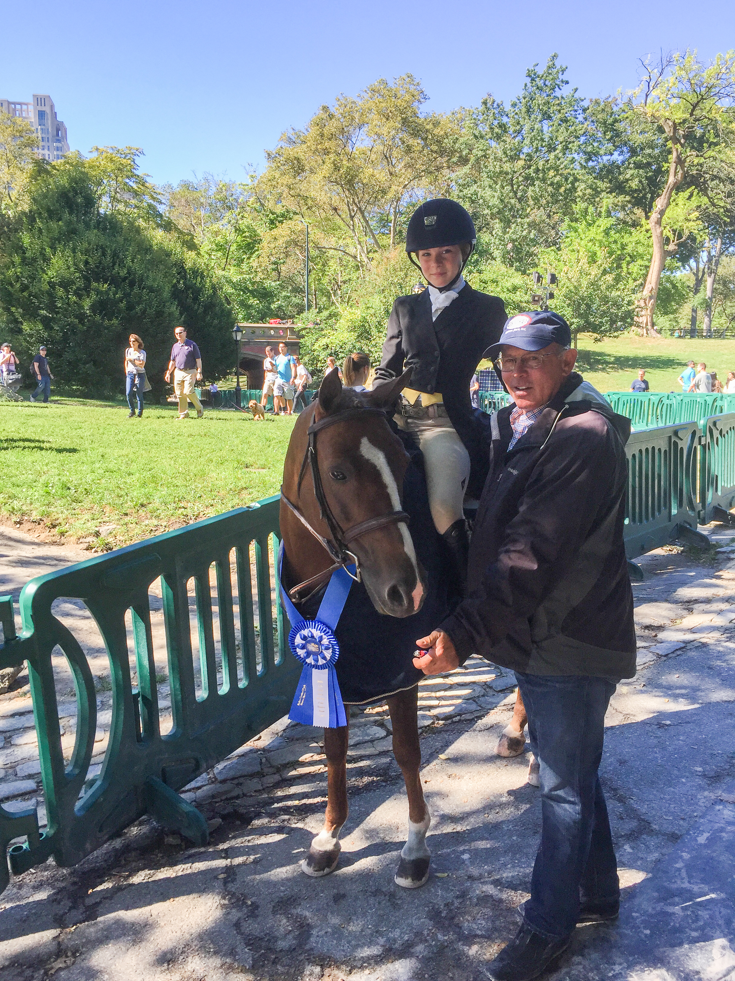 Zola Thompson and Elegance with trainer Jack Towell
