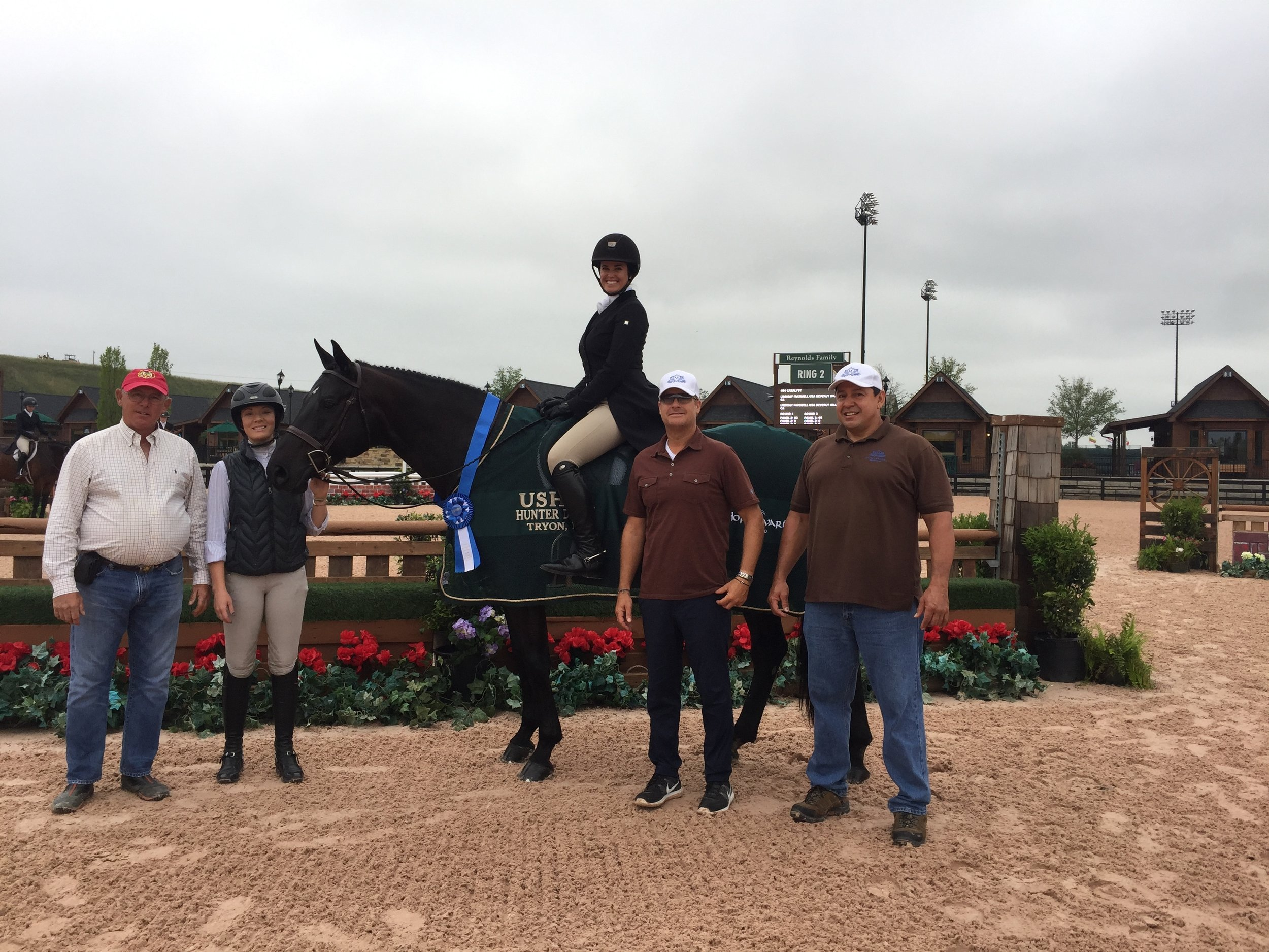 Lindsay Maxwell and Catalyst won the USHA National Hunter Derby in Tryon