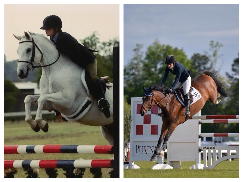 Erin McGuire in the 11 and under equitation at Aiken and 12 years later winning her first Grand Prix at the same venue, Highfields Event Center!