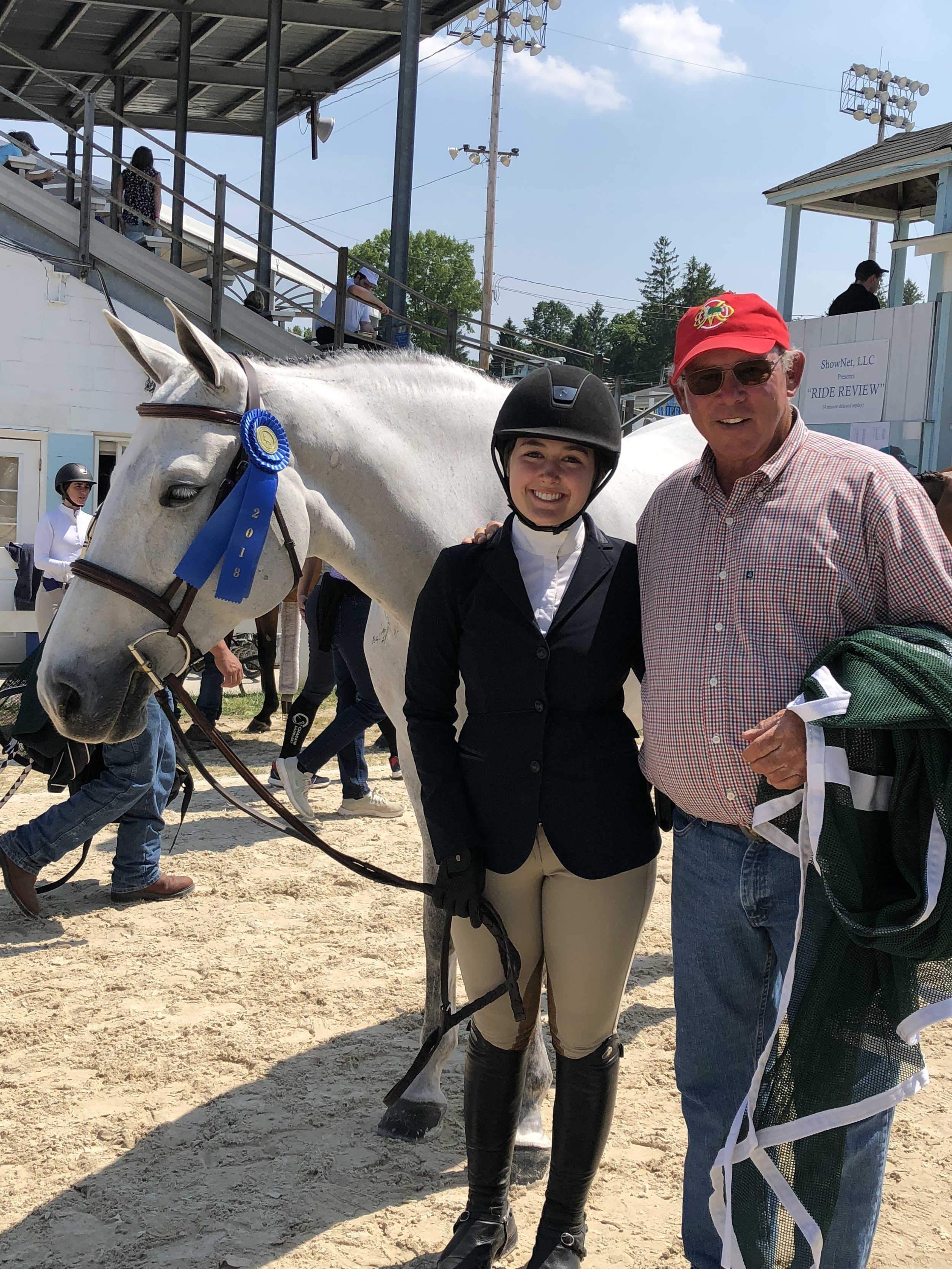 Elly Ficca and Cleopatra's Smile with trainer Jack Towell