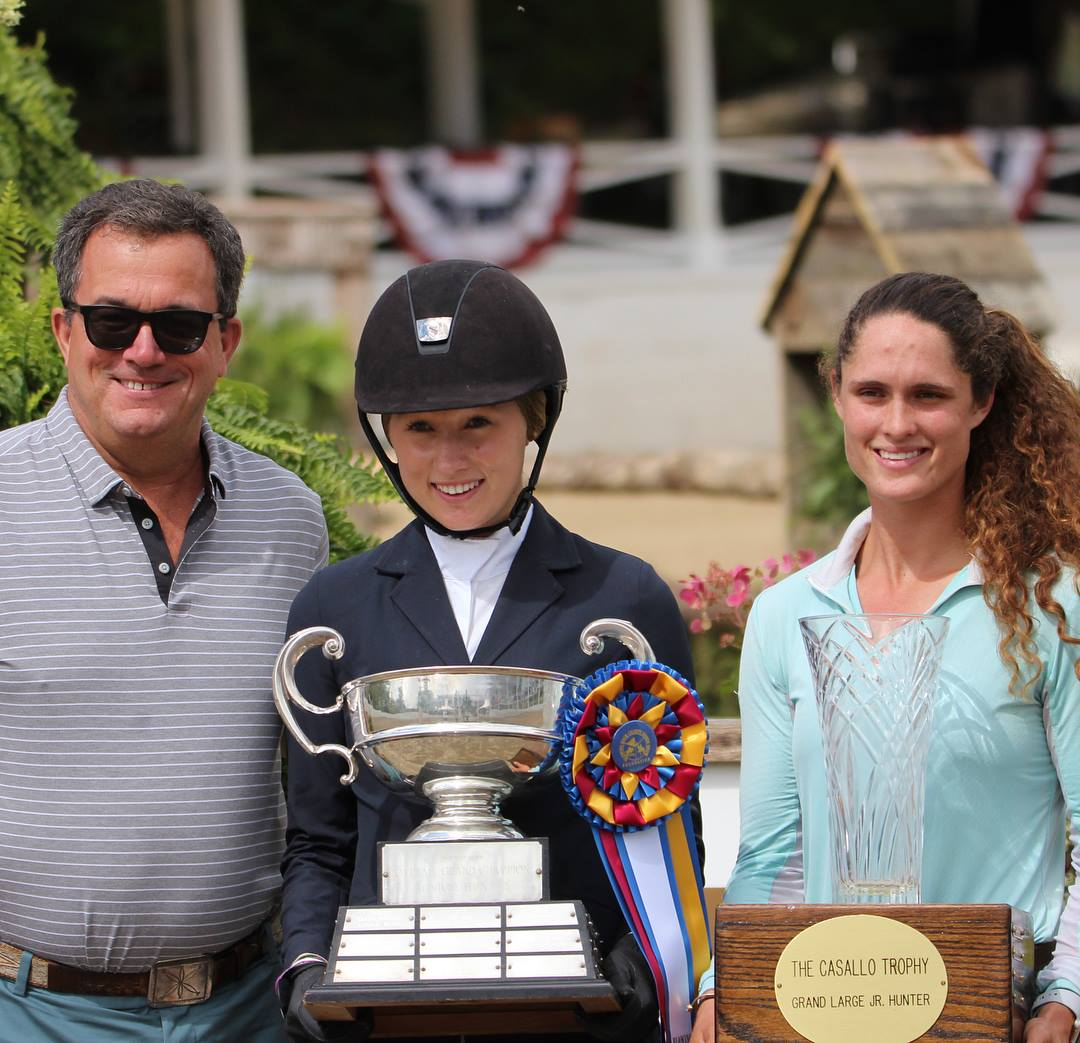 Maggie Hill receives the Casallo Trophy