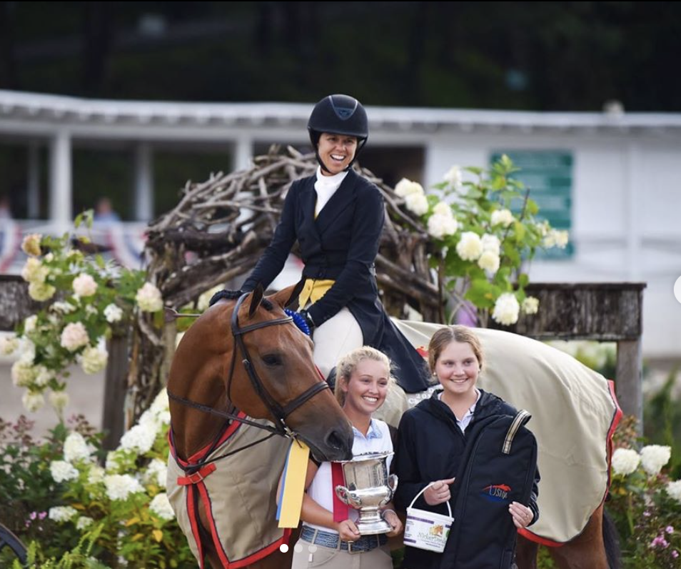 Liza Boyd and Gigi Manigault's Bastille topped the USHJA International Hunter Derby