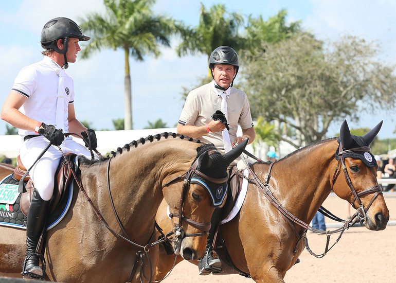 Darragh Kenny and Hardin Towell own and operate Oakland Stables. Photo: Callie Clement/Phelps Media