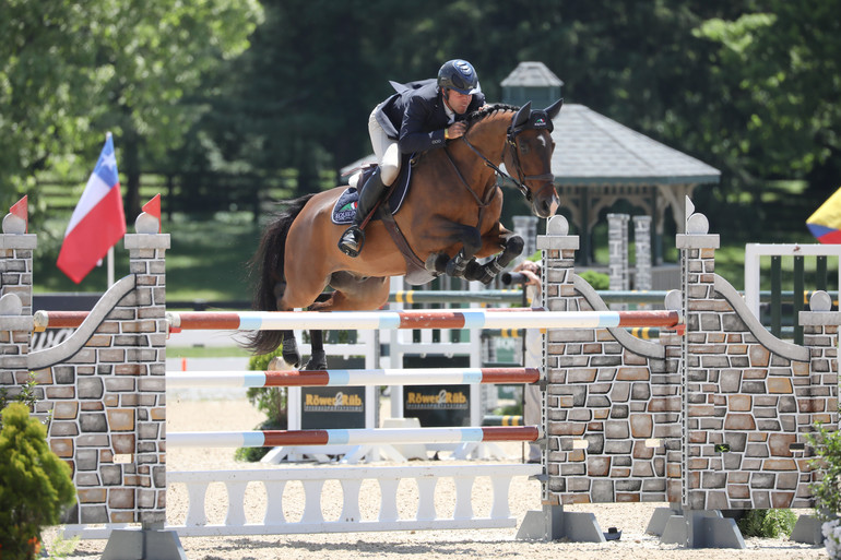 """Hardin Towell and Carlo. """"He's a horse that is easy but can be a bit quirky,"""" said Hardin. Photo: Callie Clement/Phelps Media Group"""