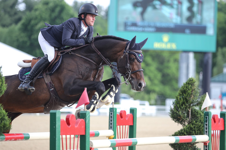 """Darragh Kenny and Ann Thomson's Balou Du Reventon. """"He always wants to fight for you in the ring and do really well,"""" said Darragh. Barre Dukes/Phelps Media Group"""