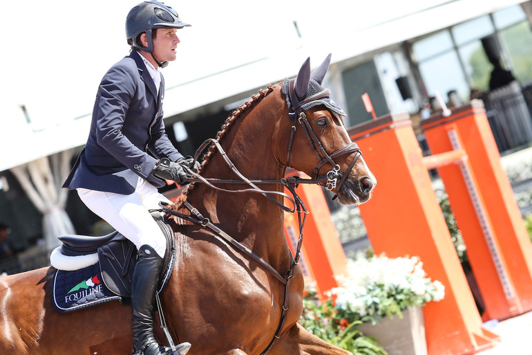 """Darragh Kenny and Classic Dream. """"I do think he can do the Olympics next year, and I think that he's an incredible horse,"""" said Darragh. Photo: Barre Dukes/Phelps Media Group"""