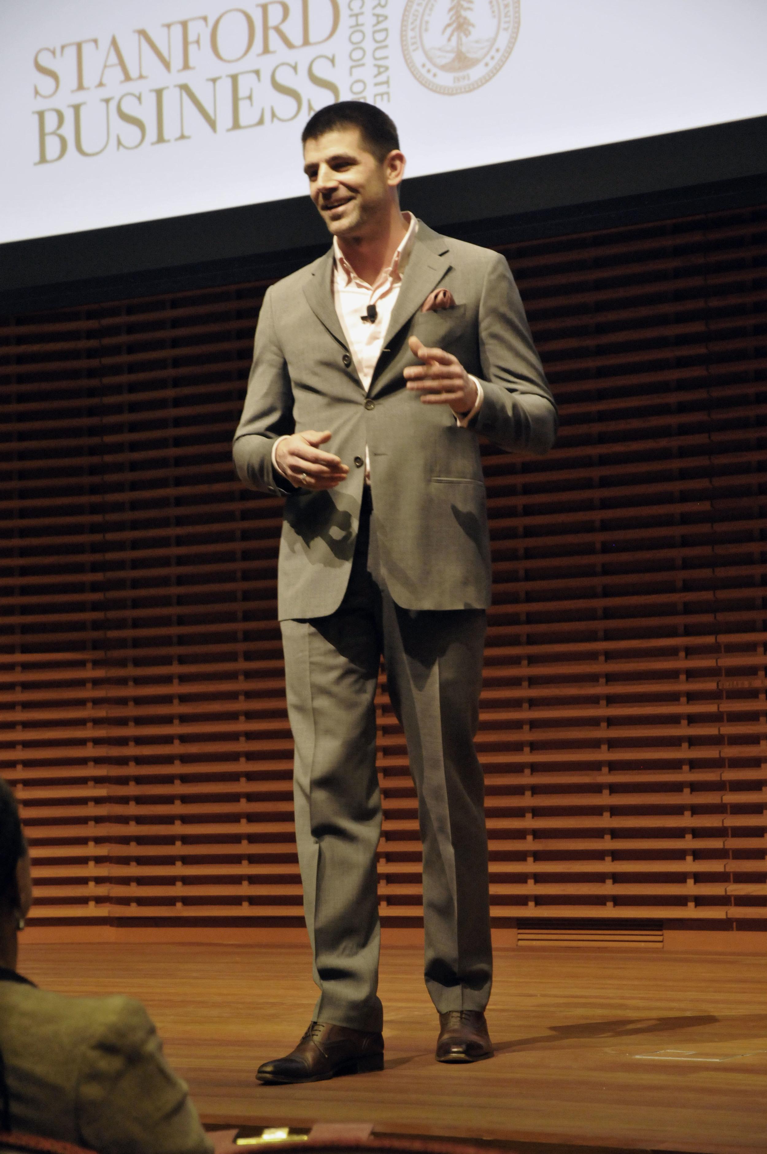 Dragos Bucurenci la Stanford Graduate School of Business. Photo: Natalie White