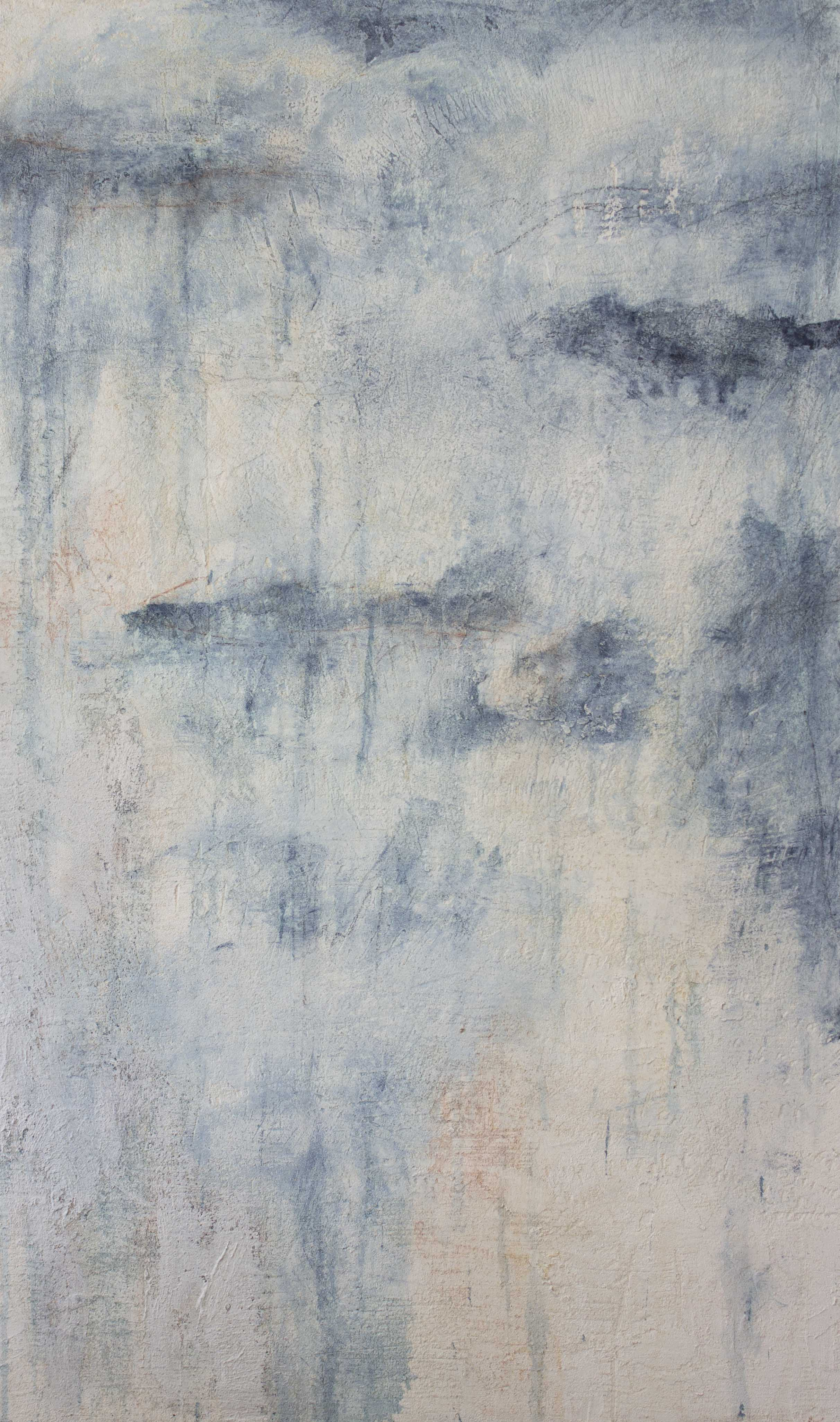 "Plaster on Panel, Natural Pigment Glaze  36"" X 60"" 2018"
