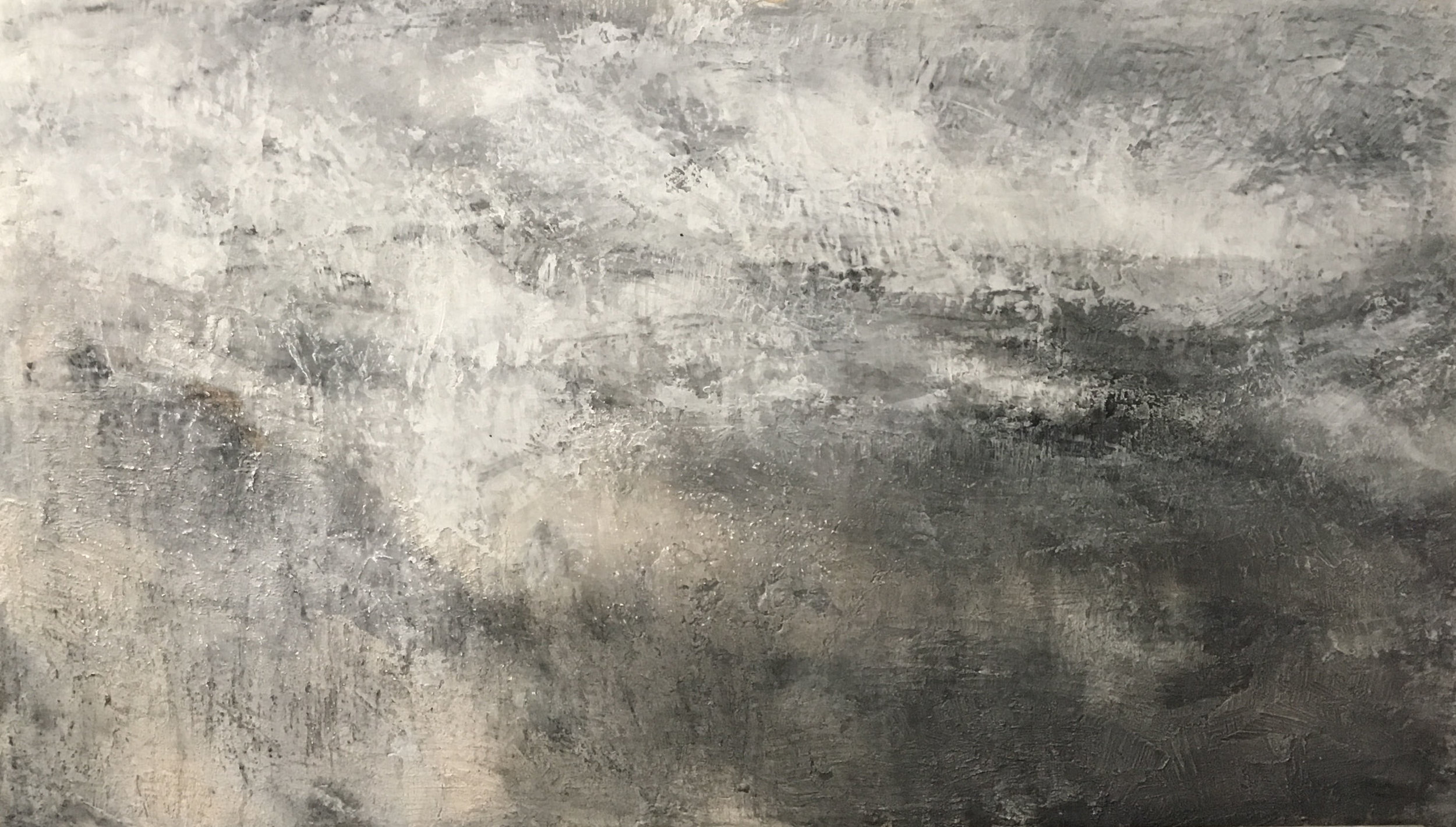 """2018, Mixed Technique on Plaster. 30"""" x 52"""""""