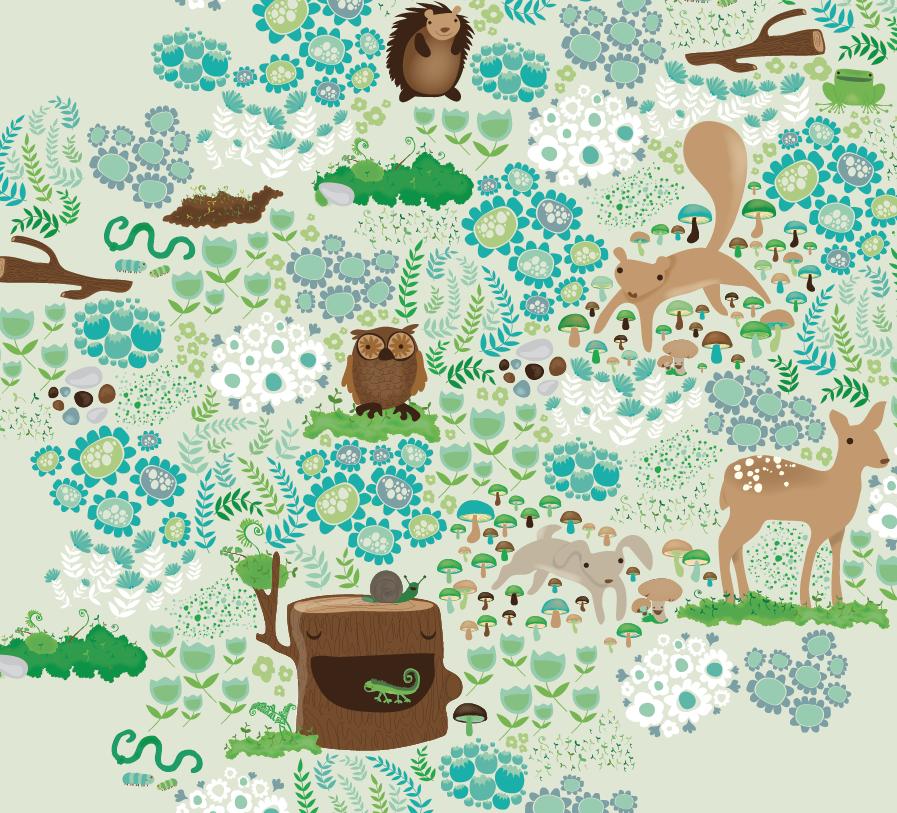 custom design surface pattern ferns animals deer bunny owl flowers nonna design illustration fern nature.png