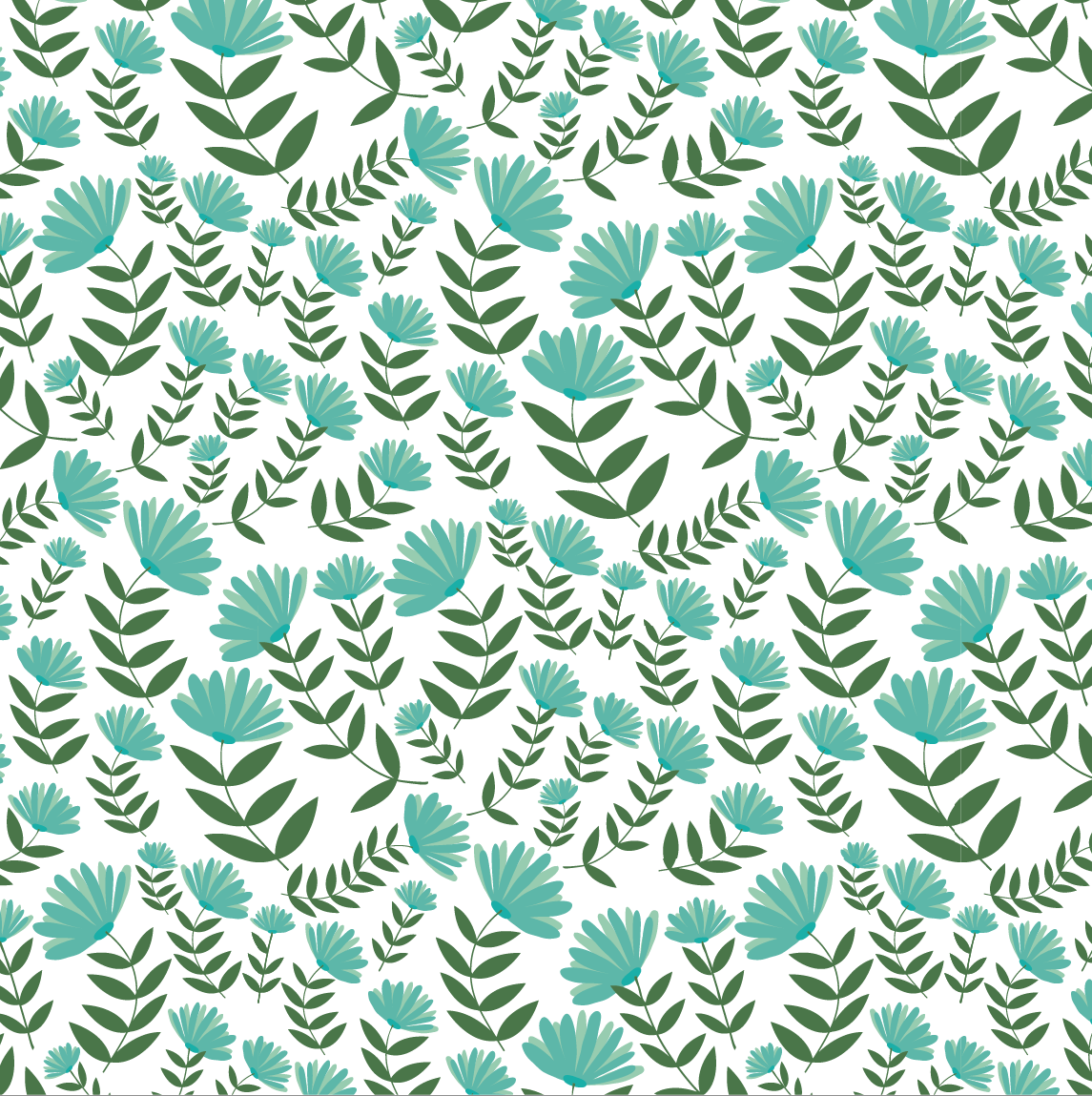 design surface pattern flowers teal green nonna design illustration