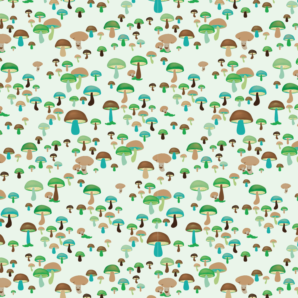 design surface pattern nature mushrooms nonna design illustration