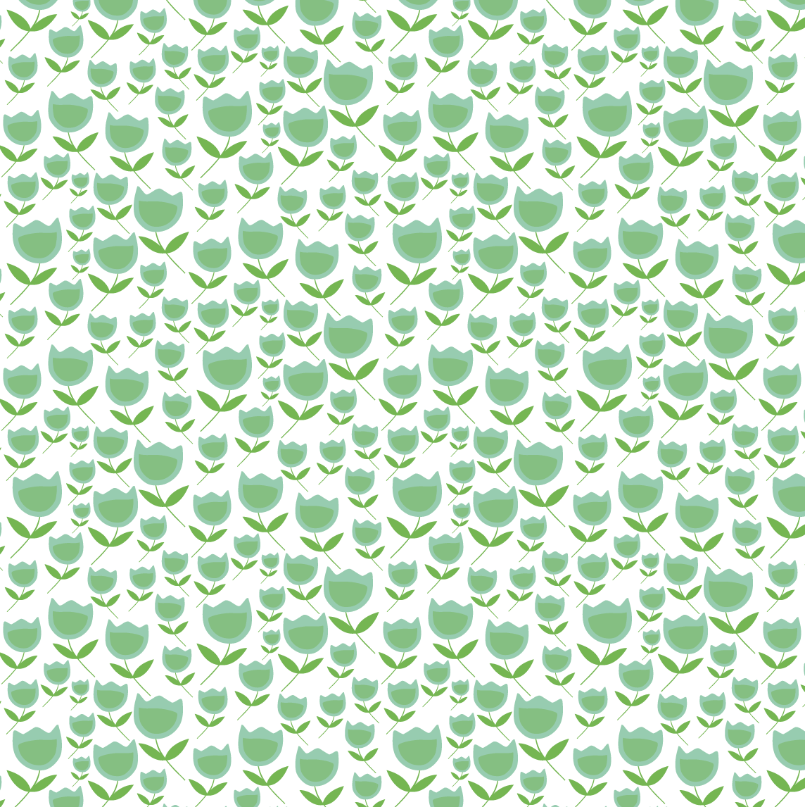 design surface pattern tulip flowers green nonna design illustration