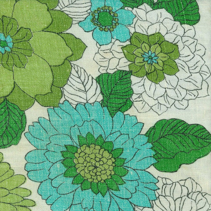 green teal floral linen inspiration