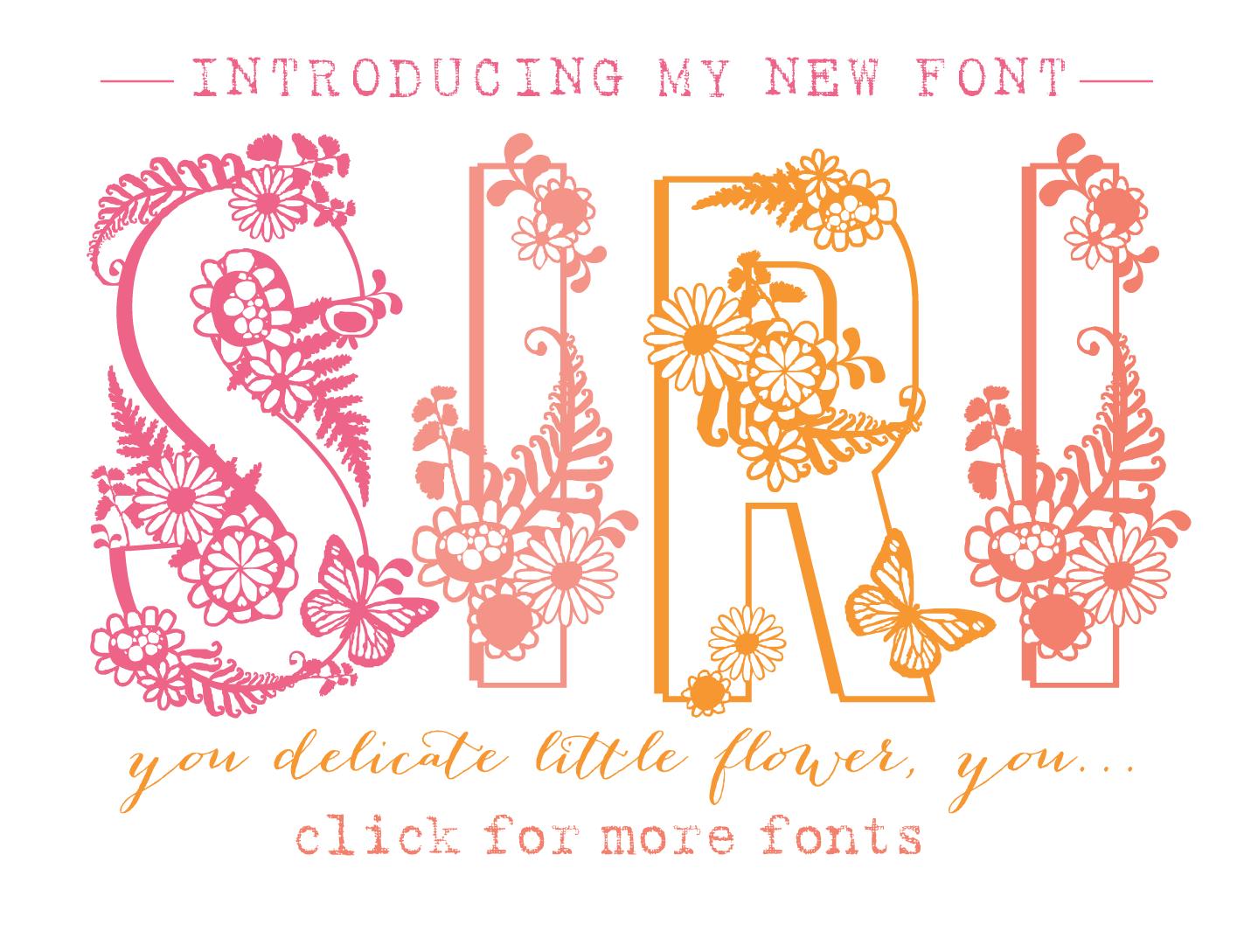 fun flirty feminine font siri