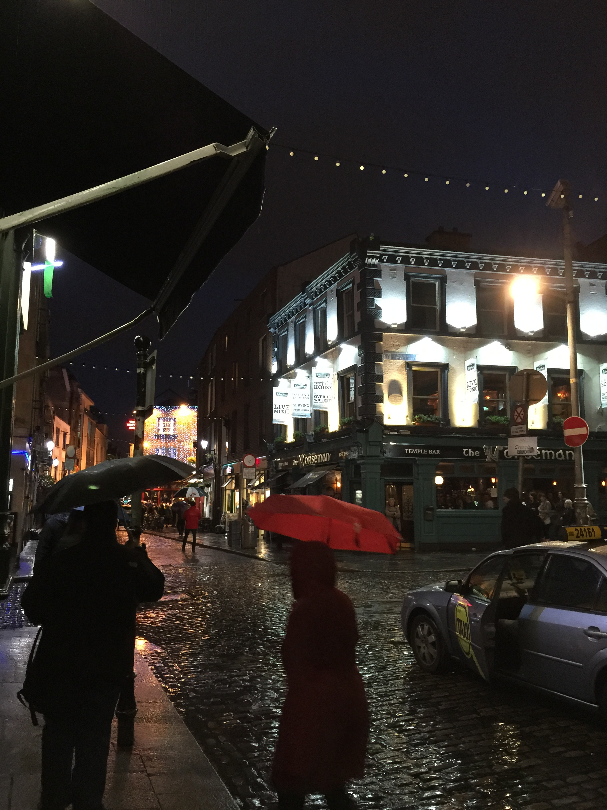 Dublin at night...in the rain...