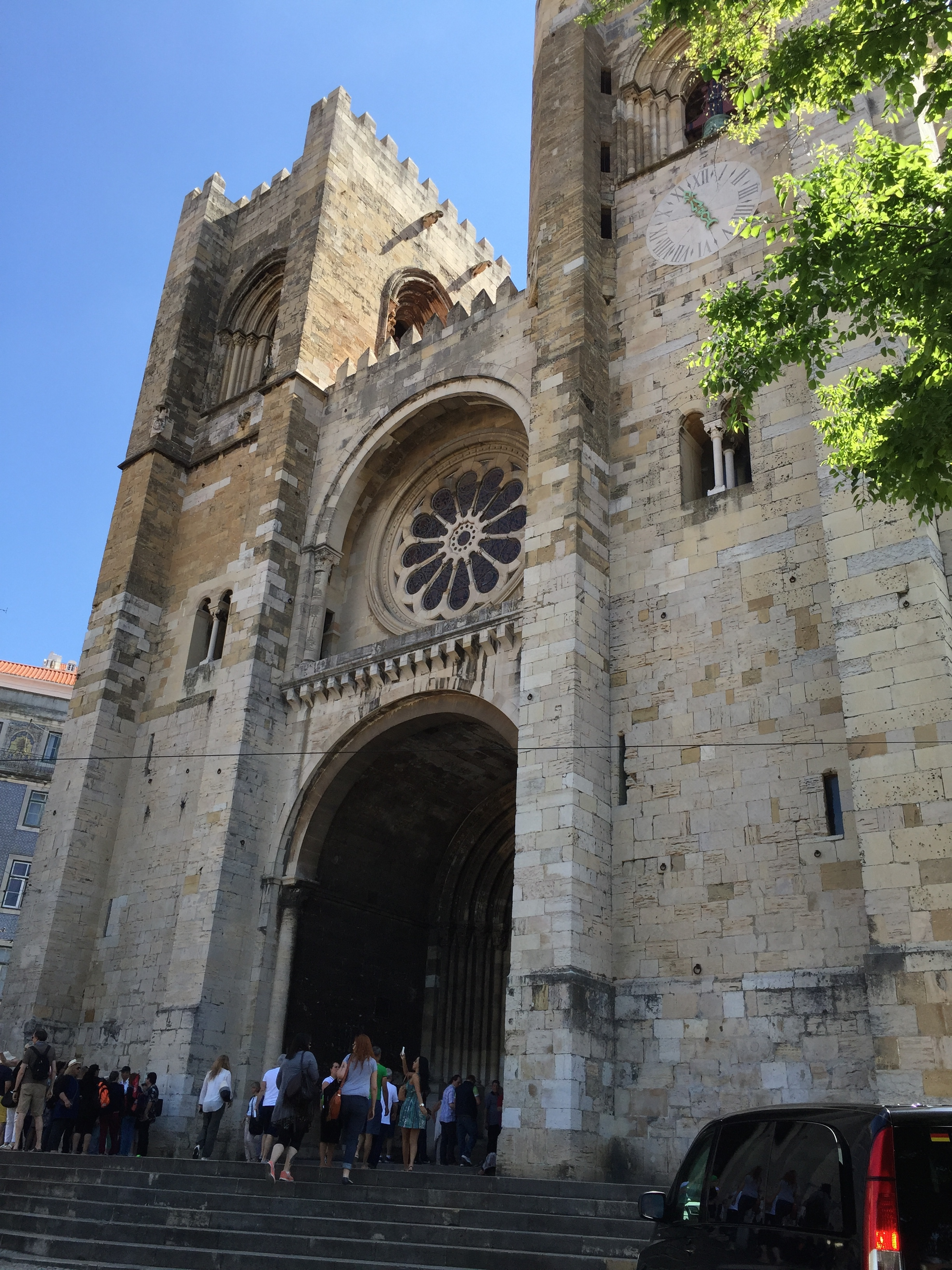 The Cathedral da Sé, with its combination of Romanesque, Gothic and Baroque architecture.