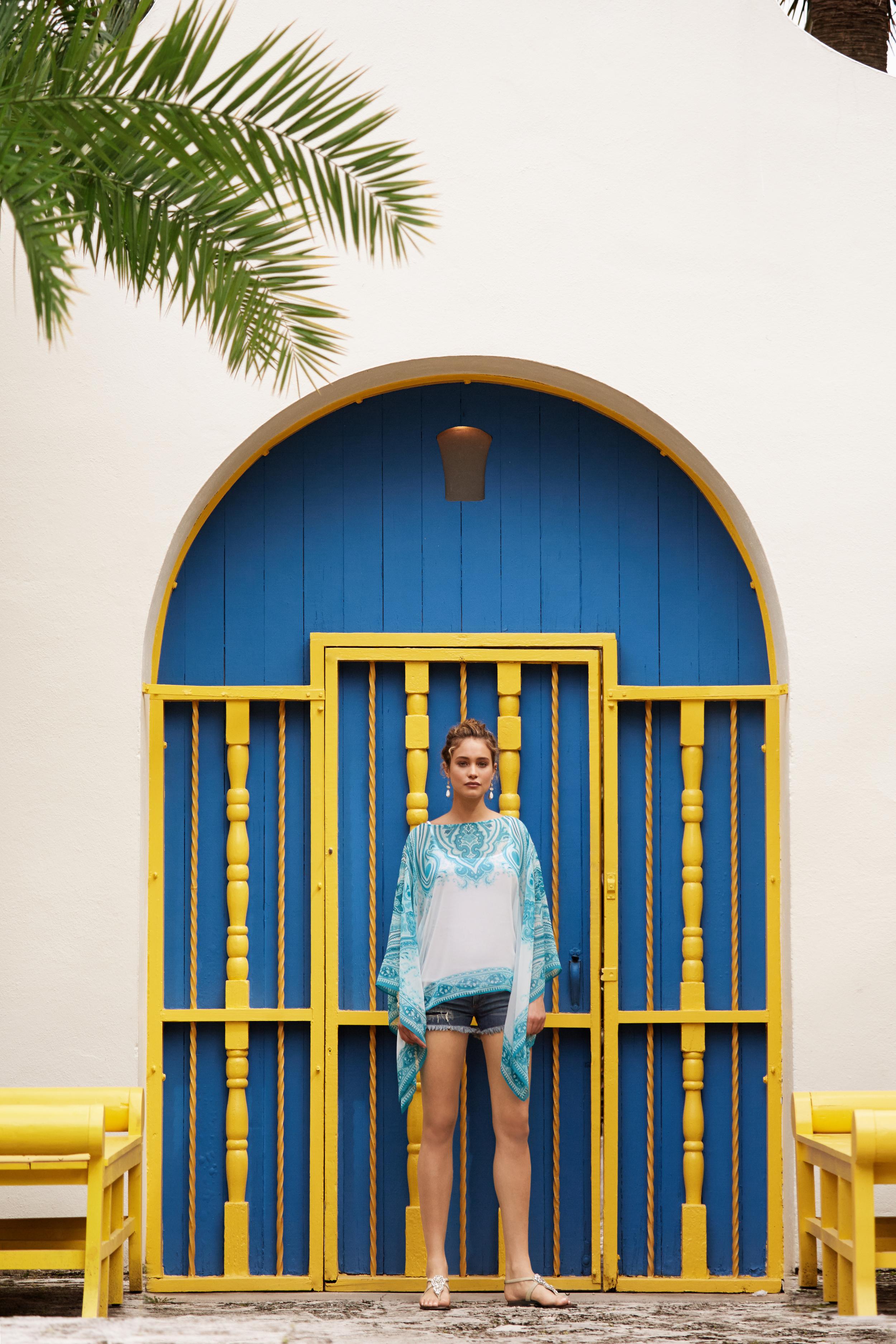 hannah davis photo shoot for calypso st barth and county fair productions miami 6