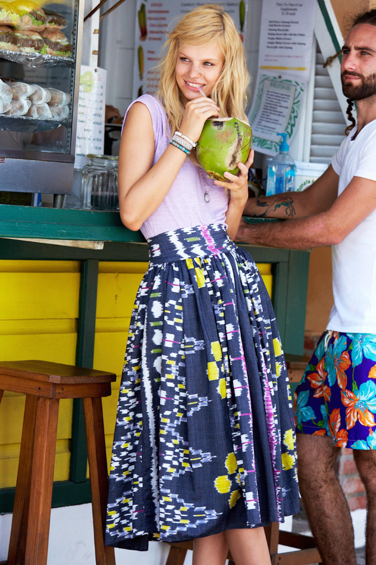 coconut water calypso st barth in barbados with nadine leopold and matt jones