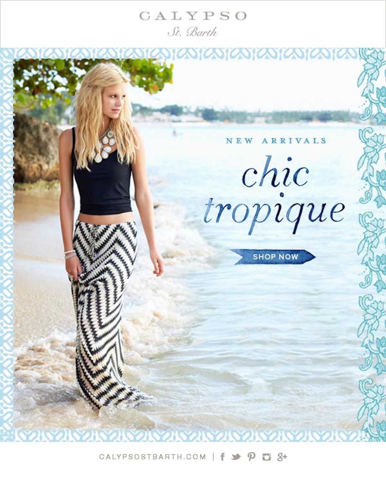 chic tropique calypso st barth in barbados with nadine leopold and matt jones