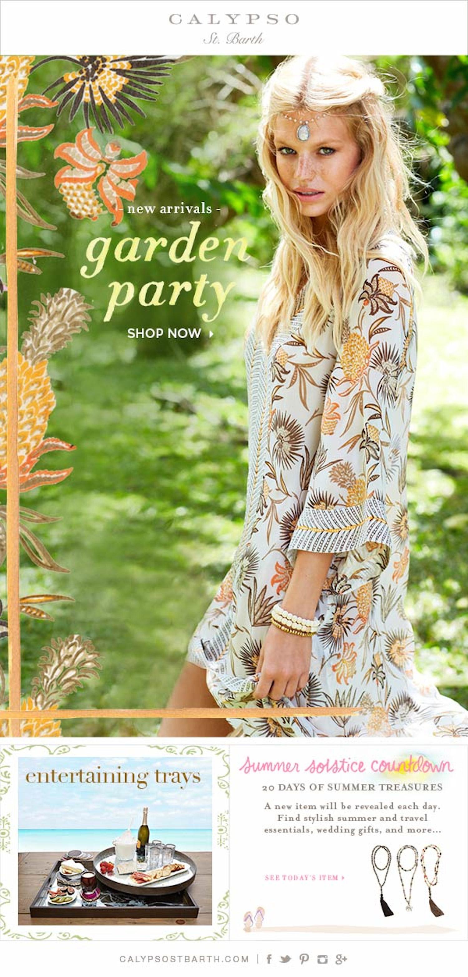 garden party calypso st barth in barbados with nadine leopold and matt jones