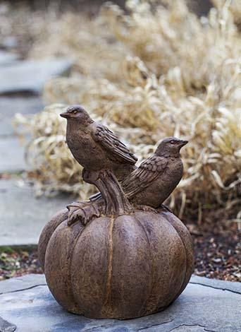 Birds on a Pumpkin