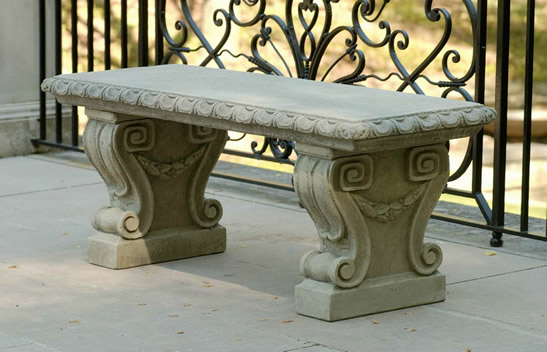 Longwood Main Fountain Garden Bench