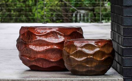Low Rumba Planter, Sunset Red