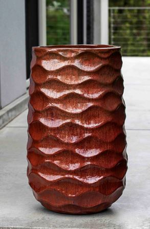 Tall Rumba Planter, Sunset Red
