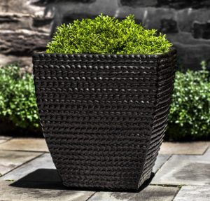Square Sisal Weave Planter, Cola