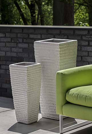 Tall Square Dimple Planter