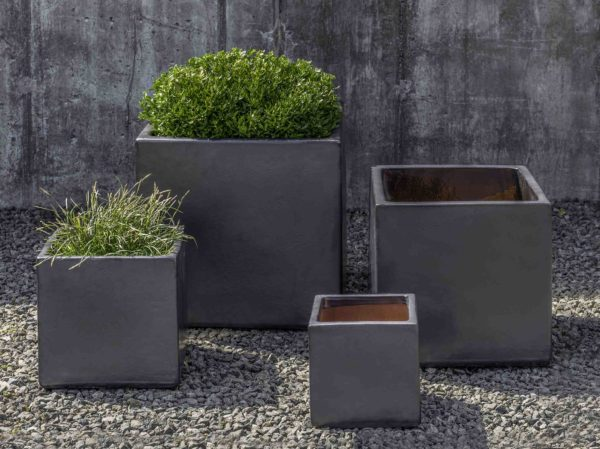 Hancock Planter - Metal Grey