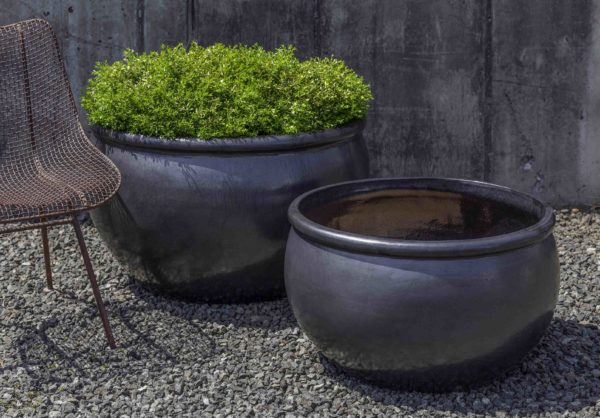 Reseda Planter - Metal Grey