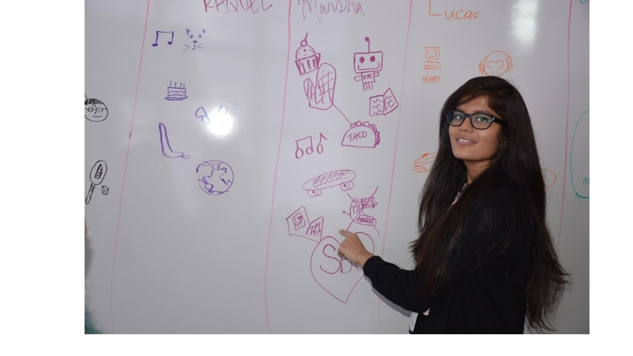 In our programs we teach students how to leverage Mind Mapping. It is a fun way to introduce themselves to each other and to get more comfortable with their team members.