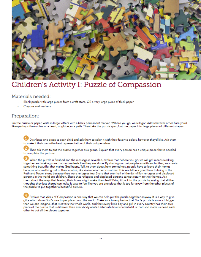 Week of Compassion 40-page Leadership Guide
