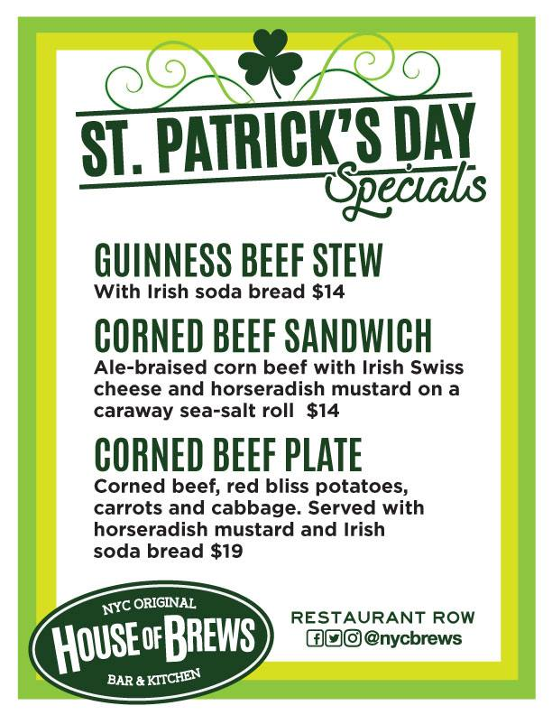 St. Patrick's Day Restaurant Row