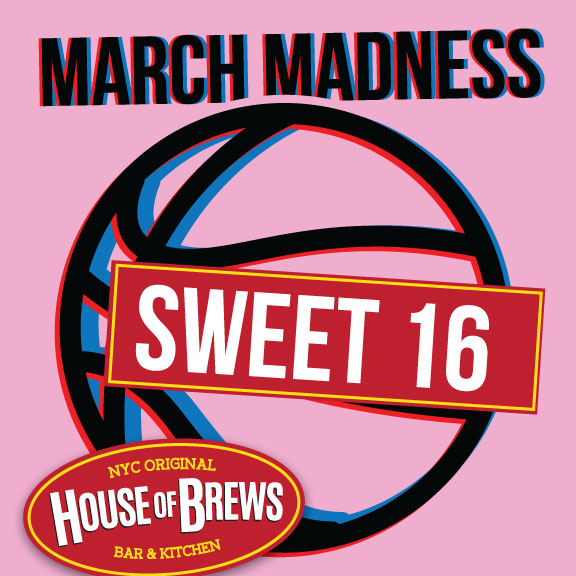 Watch March Madness Sweet 16 NYC restaurant row