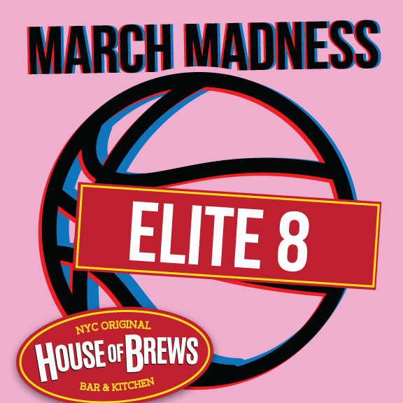 Watch March madness Elite 8 Restaurant Row NYC