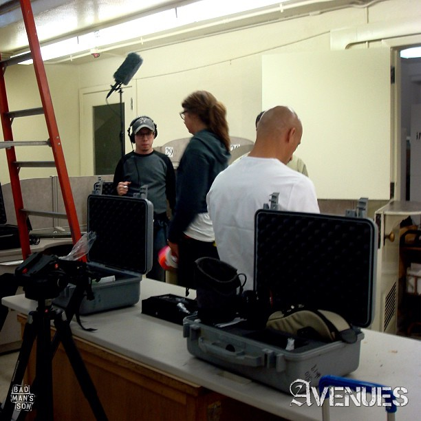 Behind the scenes of AVENUES. This was day one of our shoot. #independentfilm #indiefilm #avenues #avenuesfilm #filmmaking