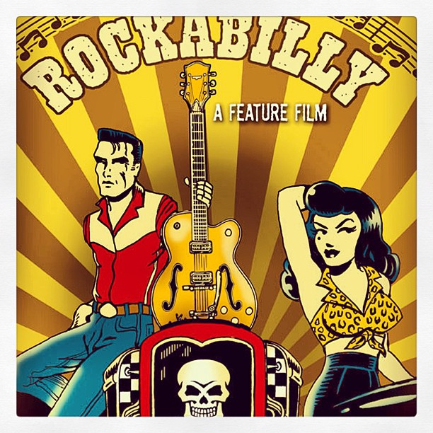 "Here a glimpse of the poster art for our next feature film titled ""Rockabilly"". Poster Art by Vince Ray. #vinceray #rockabilly #rockabillyfilm #indiefilm #independent film #film #comedy"