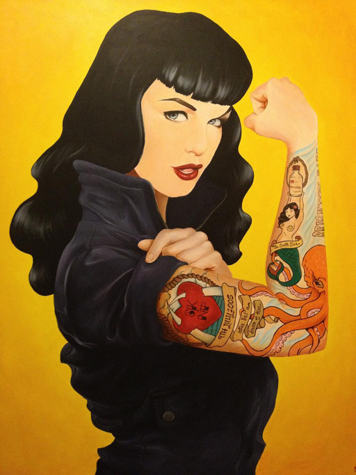 Bettie Page (2013) Acrylic on canvas 71cm x 91cm